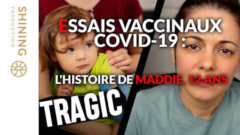 Essais vaccinaux COVID-19 : L'histoire de Maddie, 12 ans.