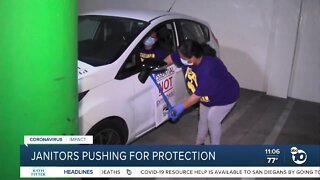 Janitors pushing for protection