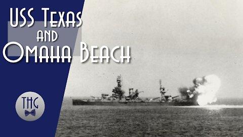 USS Texas and Omaha Beach