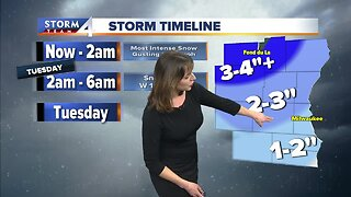 Light snow expected through the night