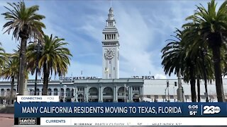 Many California residents moving to Texas, Florida