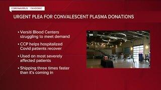 Versiti Blood Center urges COVID-19 survivors to donate plasma