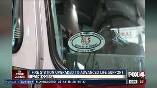 Cape Coral fire truck upgraded for advance life support service