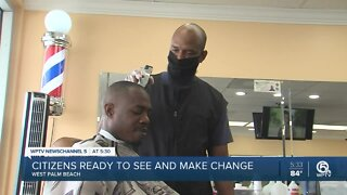 Barbershop customers offer thoughts on protests in America