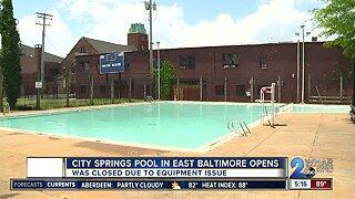 City Springs pool reopens