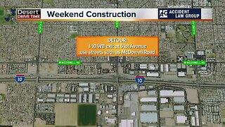 Easter weekend freeway closures