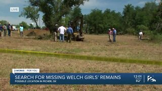 Search for missing Welch girls' remains in Picher, Okla.