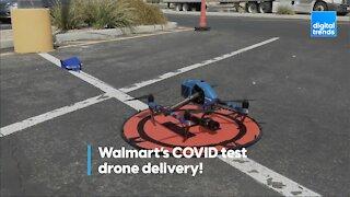 Walmart COVID test drone delivery!