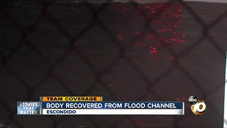 Body recovered from Escondido flood channel