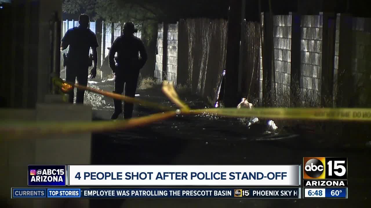 Four people shot after Phoenix standoff