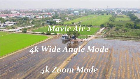 Mavic Air 2 4k Wide angle Mode and 4k Zoom Mode