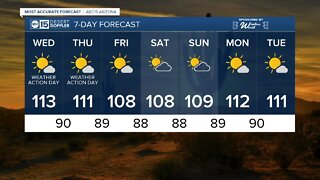 Monsoon storms possible as record heat continues!