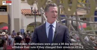 California Gov. Gavin Newsom Now Officially Faces a Recall