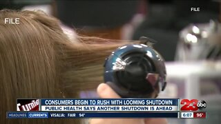 Consumers being to rush with looming shutdown