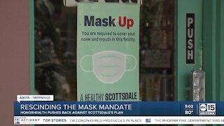 Scottsdale rescinds mask mandate