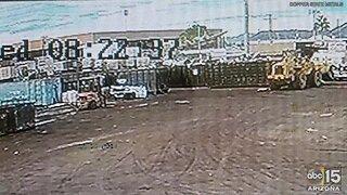 Surveillance video shows plane crash