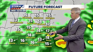 Off-and-on rain showers continue overnight