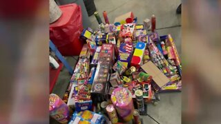 More illegal fireworks confiscated