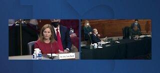 Amy Coney Barrett pushed to full senate