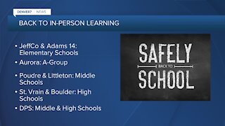 Several districts adding in-person learning
