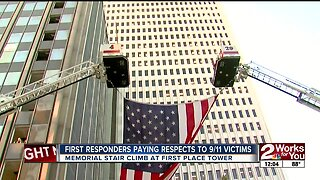 First responders paying respects on 9/11