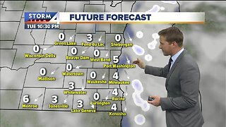 Chance of flurries Tuesday evening