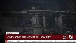 1 home destroyed in Willow Fire