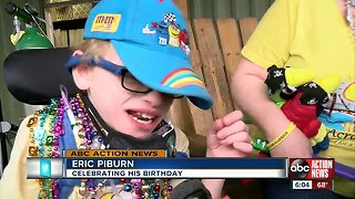 Child shared special birthday party with the community