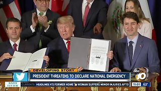 President Trump threatens a national emergency