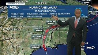 Hurricane Laura Update PM 8/26