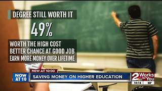 Saving money on higher education