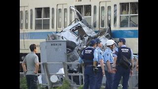 Odakyu Train and car collision