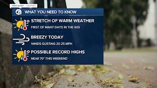 Stretch of warmer weather