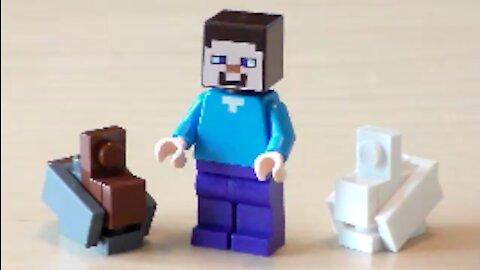 Lego Minecraft Rabbit Tutorial