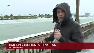 A look at Fort Myers Beach during Tropical Storm Elsa