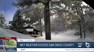 Winter weather rolls into SD county