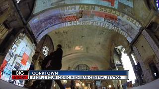 People tour iconic Michigan Central Depot