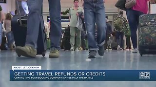 Getting travel refunds or credits