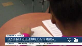 Today: Deadline for Fall school reopening plans