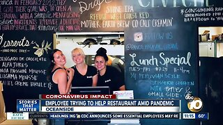 Employee trying to help restaurant amid pandemic