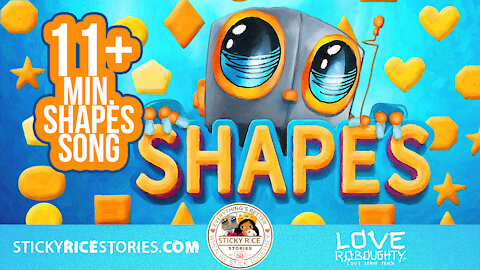Learn the SHAPES with your favorite robot Love Roboughty! - 4k official video