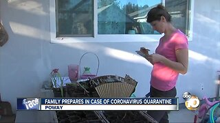 Poway family prepares for quarantine