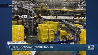 Fire at Amazon warehouse in Phoenix