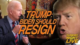 President Trump Calls For Biden To Resign In Scathing Comments