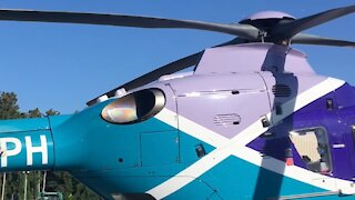 EMS Helicopter engine start