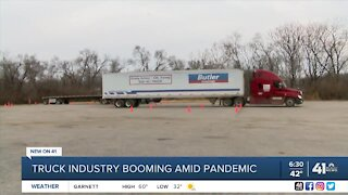 Truck industry booming amid pandemic