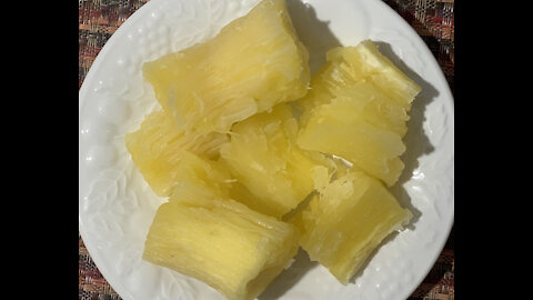 Cassava cooked easily and quickly in an electric pressure cooker