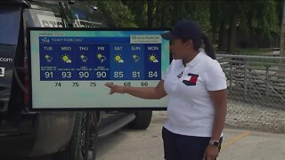 Another hot day tomorrow, scattered thunderstorms possible tonight