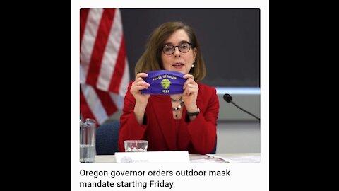 Oregon governor orders outdoor mask mandate starting Friday