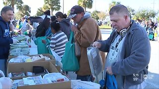 Pinellas County mobile food pantry feeds hundreds